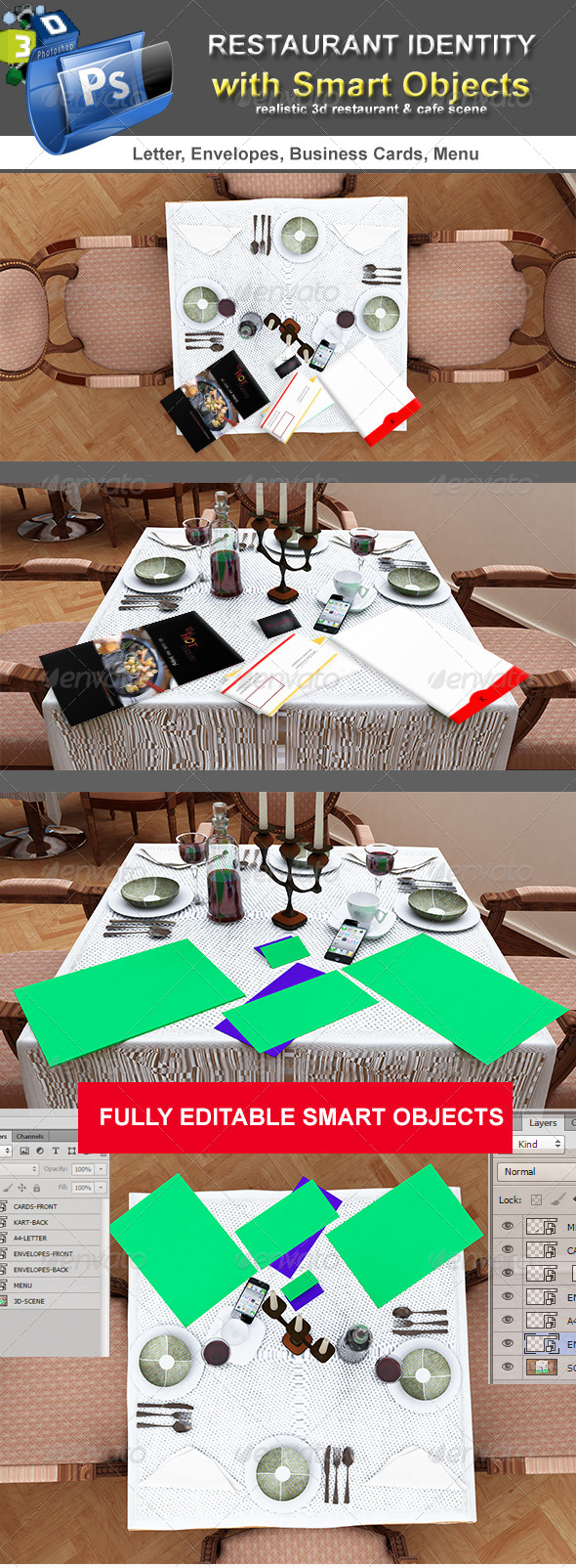 Table Scenes Restorant Identity - Miscellaneous Product Mock-Ups