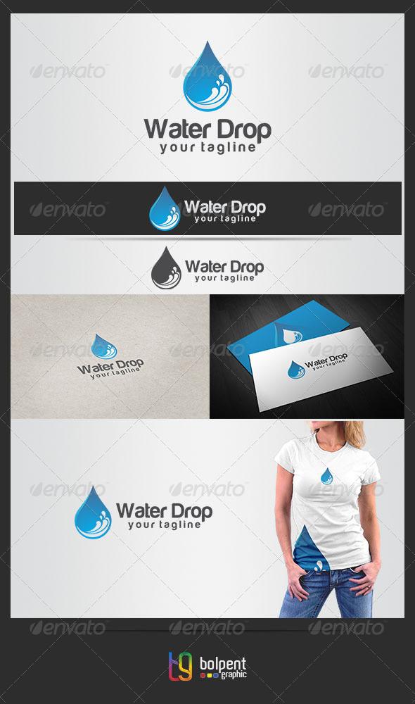 Water Drop Logo Template - Nature Logo Templates