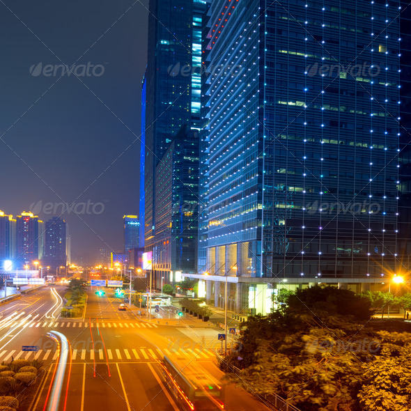 city at night - Stock Photo - Images