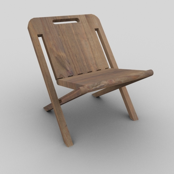 wooden folding chair 3docean item for sale
