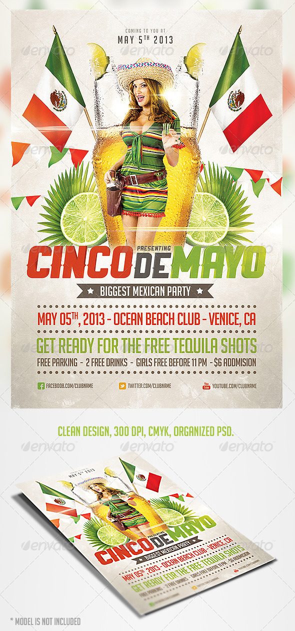 Cinco de Mayo Party Flyer 3 - Clubs & Parties Events