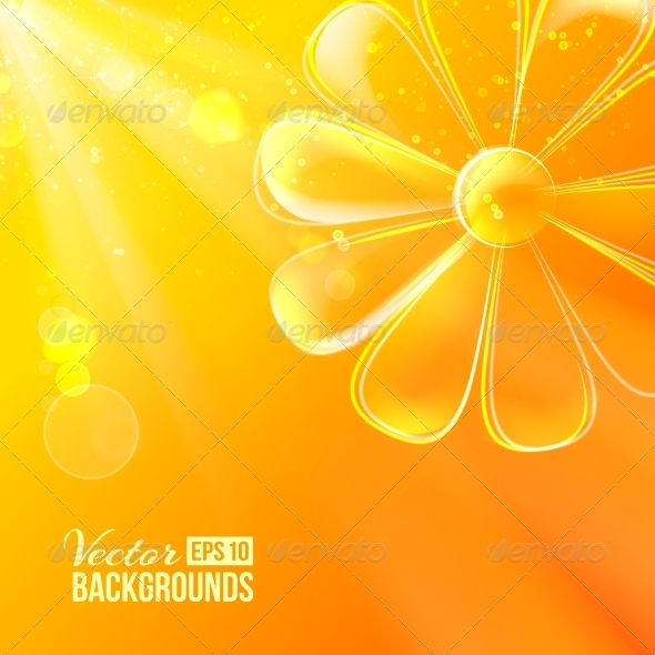 Abstract Colorful Glass Flower. - Flowers & Plants Nature