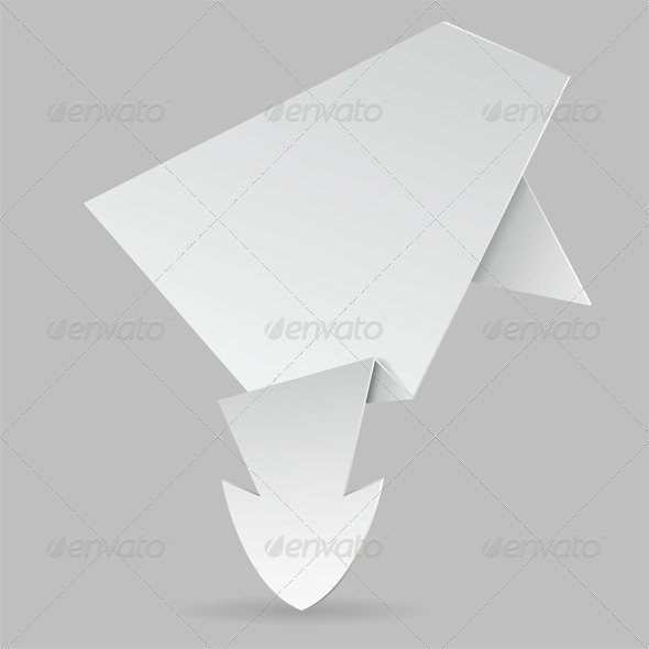 Paper Origami Arrow - Concepts Business