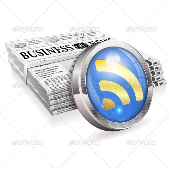 Digital News Concept - Concepts Business
