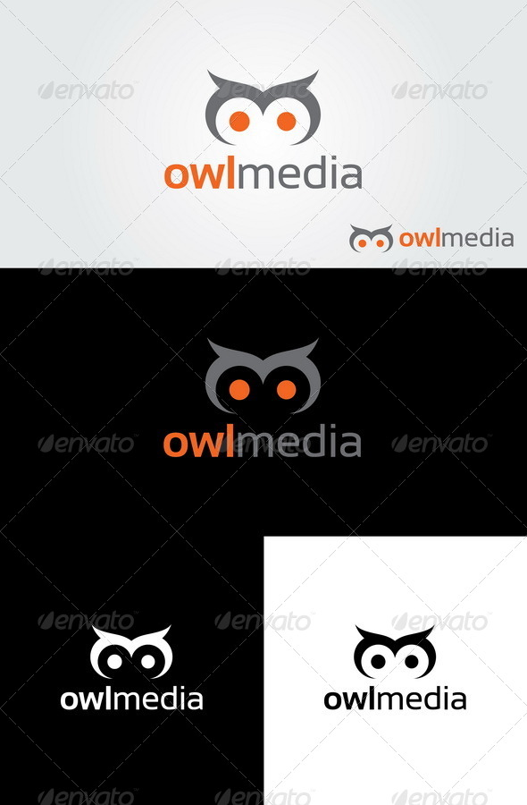 Owl Media Logo - Animals Logo Templates