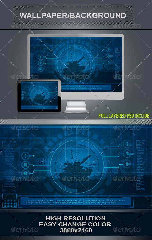 War Background - Tech / Futuristic Backgrounds