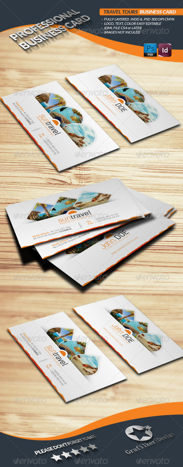 Travel tours business card template by grafilker graphicriver travel tours business card template corporate business cards magicingreecefo Choice Image