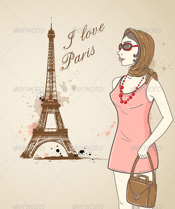 Girl in Paris - People Characters