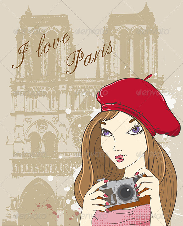 Girl with Camera  in Paris - People Characters