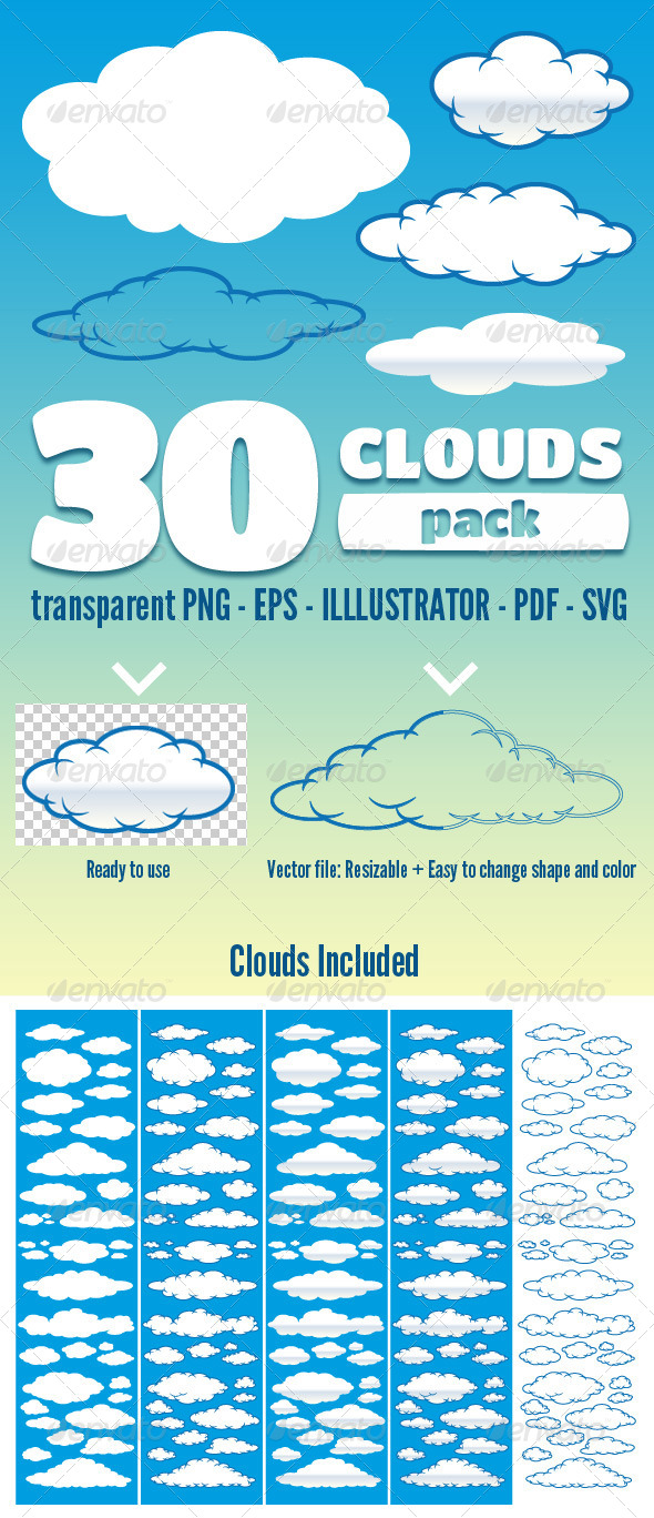 30 Clouds - Pack - Nature Conceptual