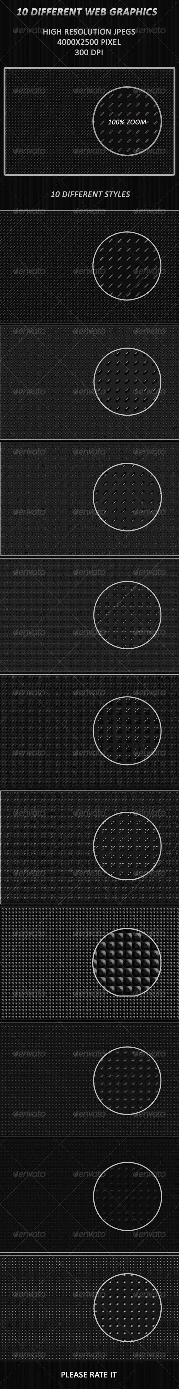 10 Different Web Graphics - Patterns Backgrounds
