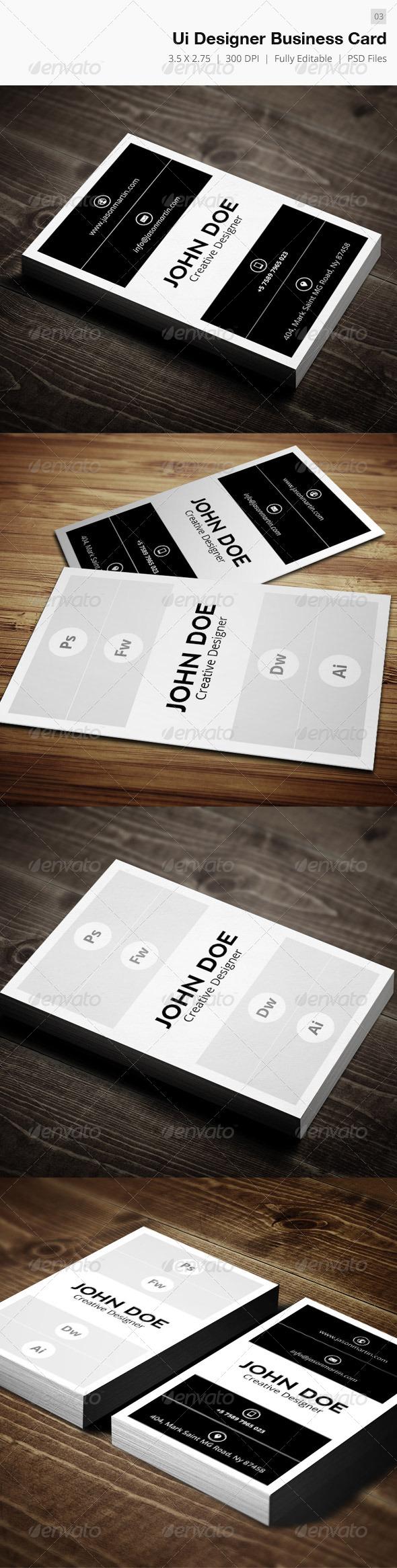 Ui Designer Business Card - 03 - Creative Business Cards