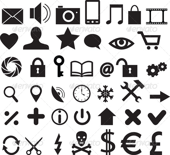 Set of Web, Business and Mobile Icons - Miscellaneous Vectors