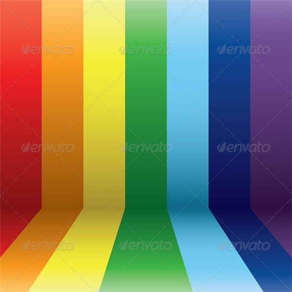 Vertical Rainbow Lines in Perspective  - Backgrounds Decorative
