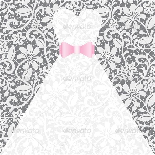 Wedding Card with White Dress - Weddings Seasons/Holidays