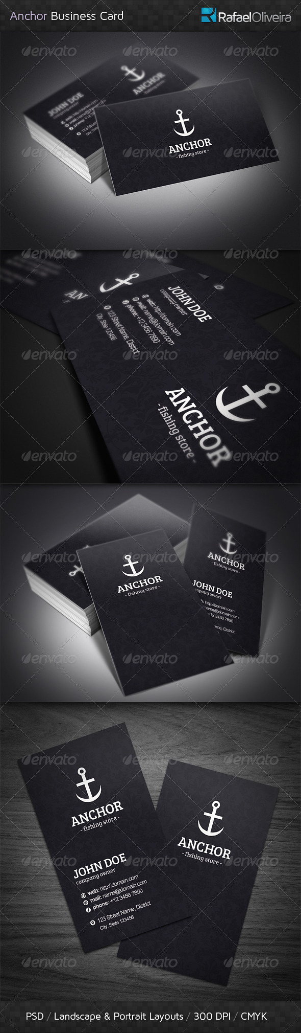 Anchor Business Cards - Industry Specific Business Cards