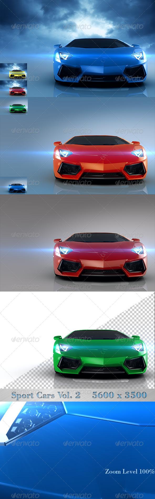 Sport Cars Vol. 2 - Objects 3D Renders