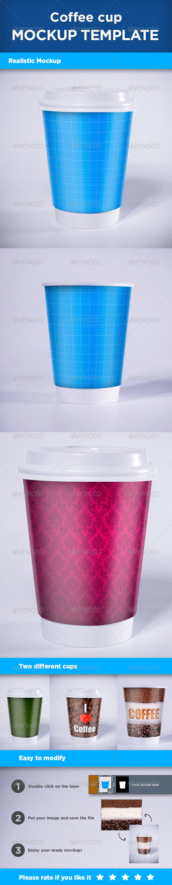 Realistic Coffee Cup Mock-up - Print Product Mock-Ups