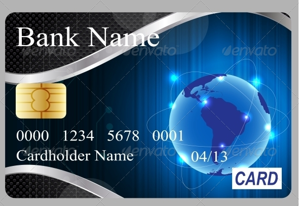 Credit Card Vector Illustration - Retail Commercial / Shopping