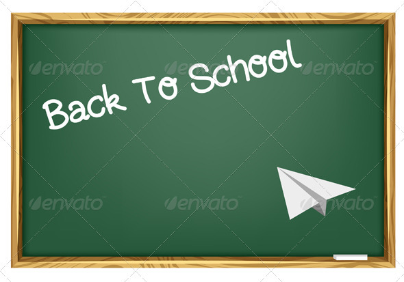 Back To School Blackboard - Miscellaneous Vectors