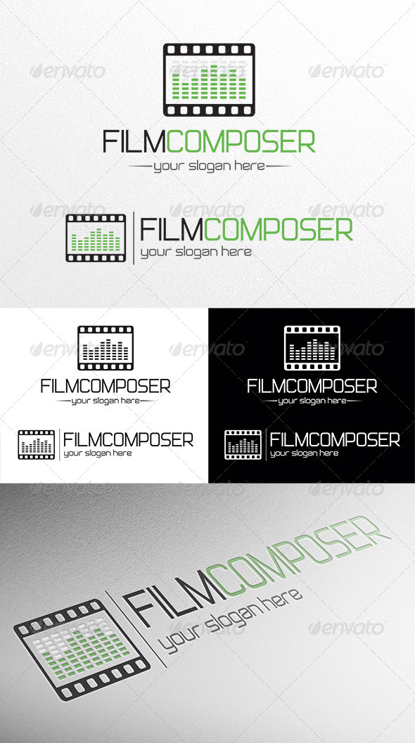 Film Composer - Objects Logo Templates