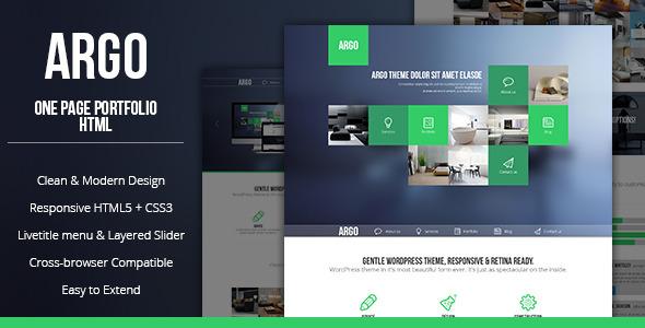Argo – Modern OnePage Bootstrap Metro UI Template