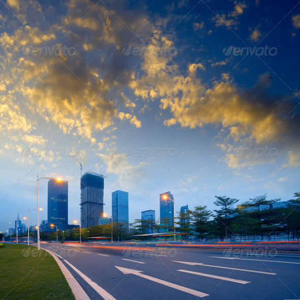 road city - Stock Photo - Images