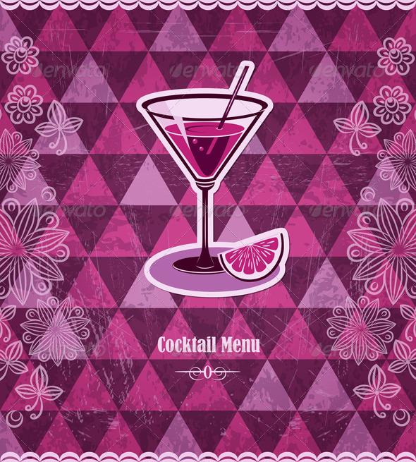 Cocktail Vintage Mosaic Pattern - Backgrounds Decorative