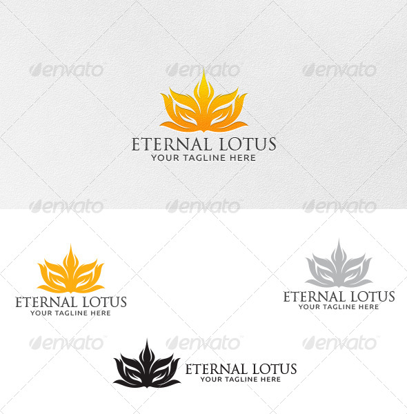 Eternal Lotus - Logo Template - Vector Abstract
