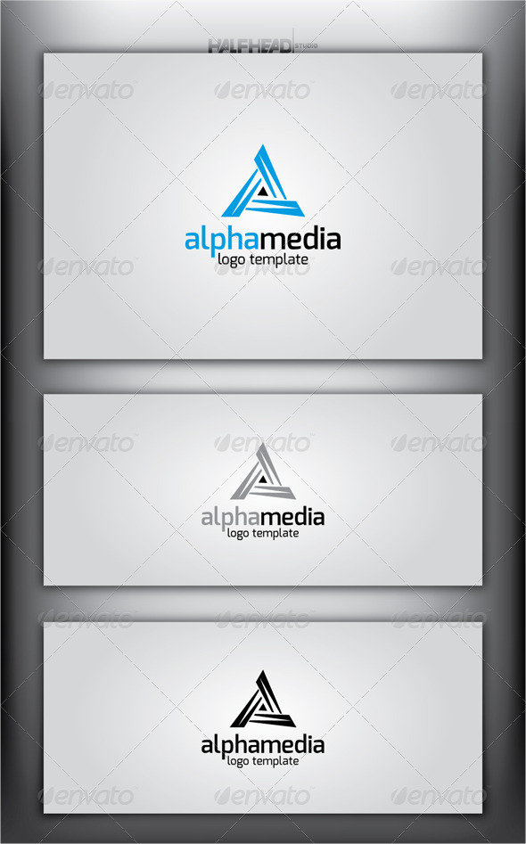 ALPHA MEDIA Logo Template - Abstract Logo Templates