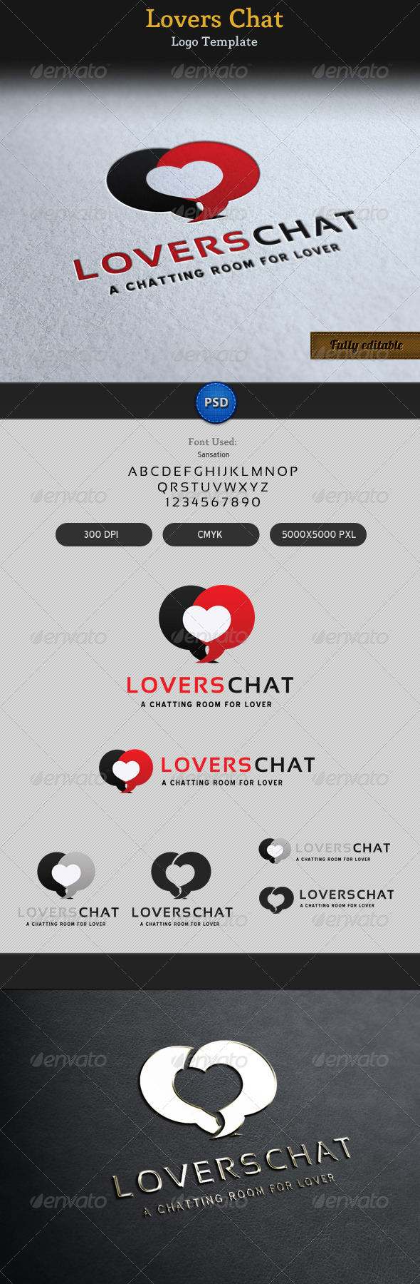 Lovers Chat Romantic Talk Logo - Symbols Logo Templates
