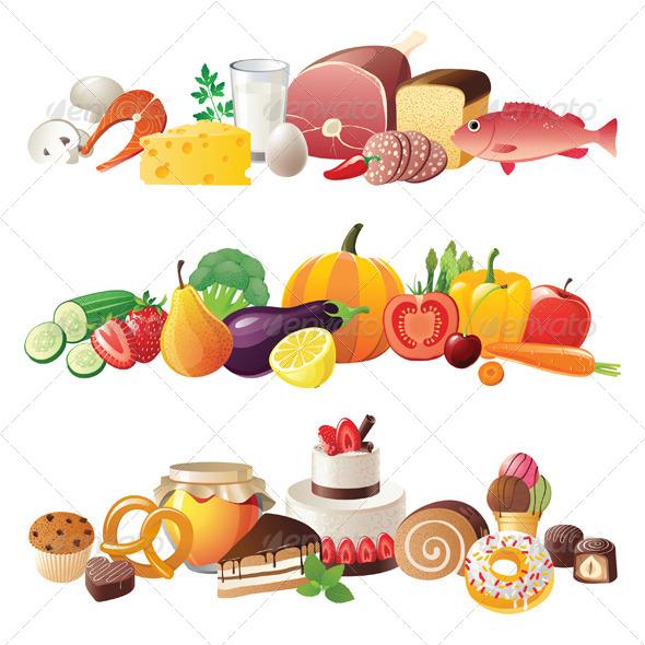 Food Borders - Food Objects