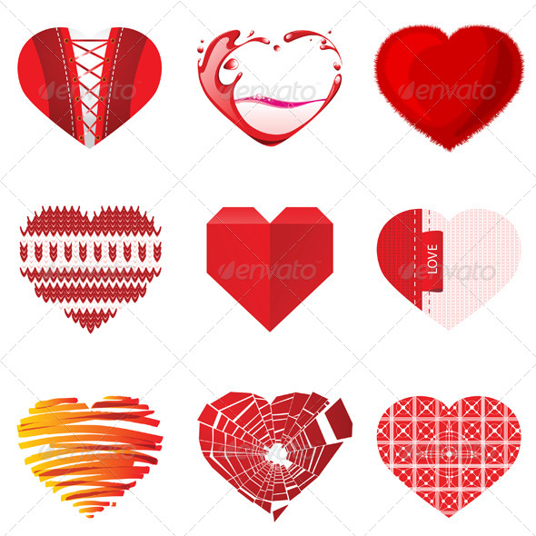 Valentine's Day Hearts - Vectors