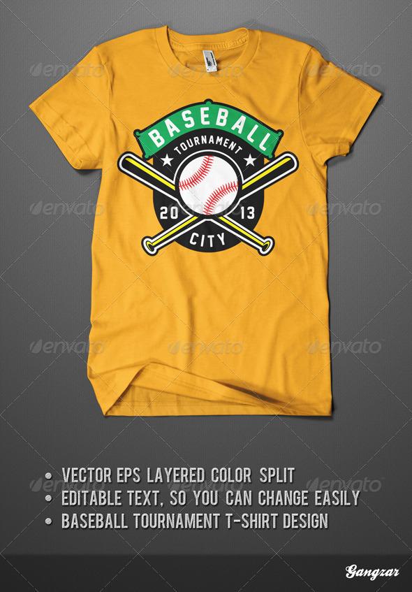 Baseball Tournament T-Shirt - Sports & Teams T-Shirts