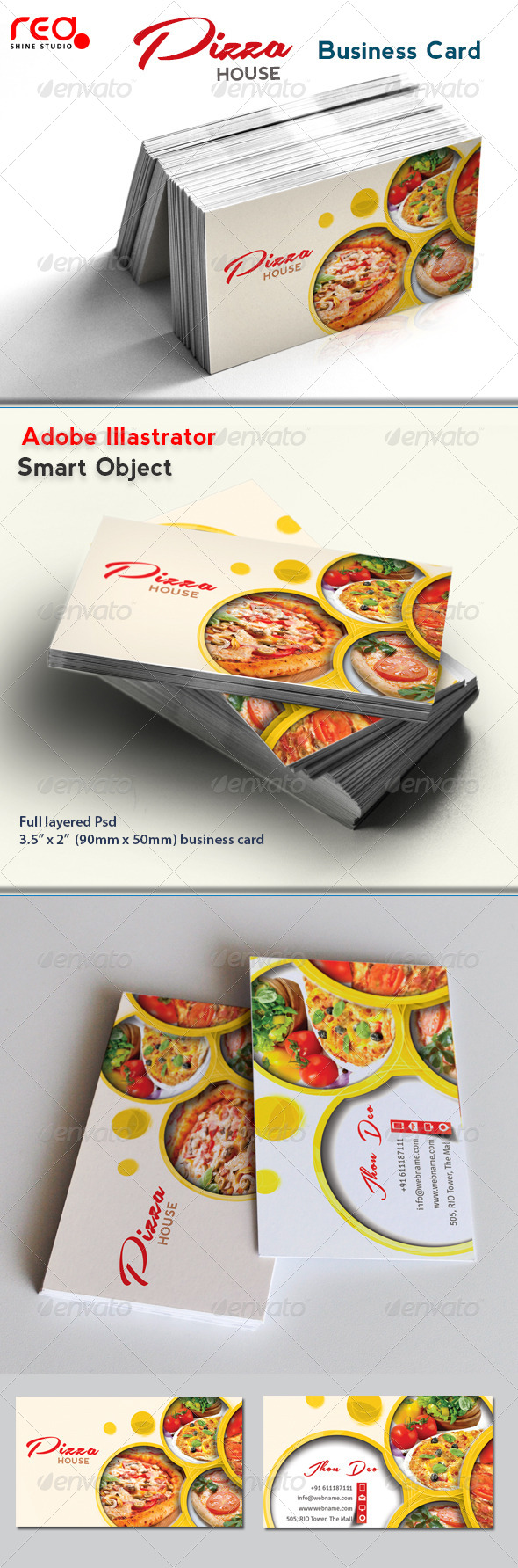 Restaurant business card by redshinestudio graphicriver restaurant business card cheaphphosting