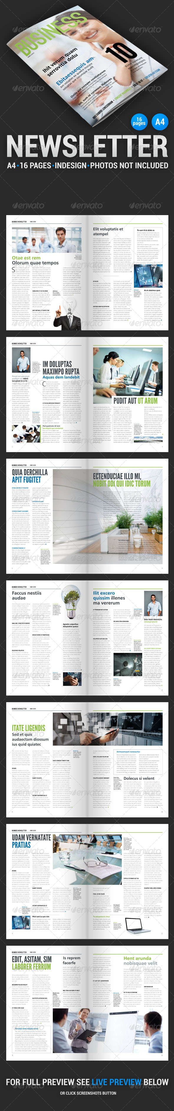 Business Newsletter 2 - Newsletters Print Templates