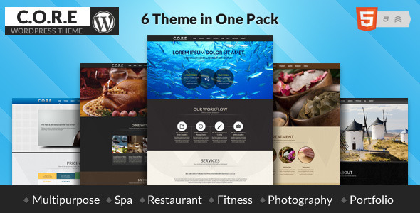 Core – Multipurpose One Page Theme