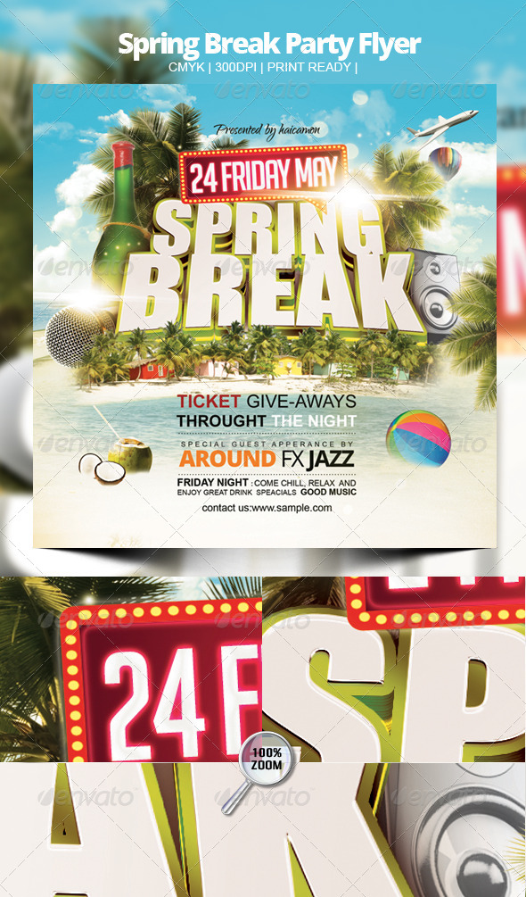 Spring Break Party Flyer By Haicamon | Graphicriver