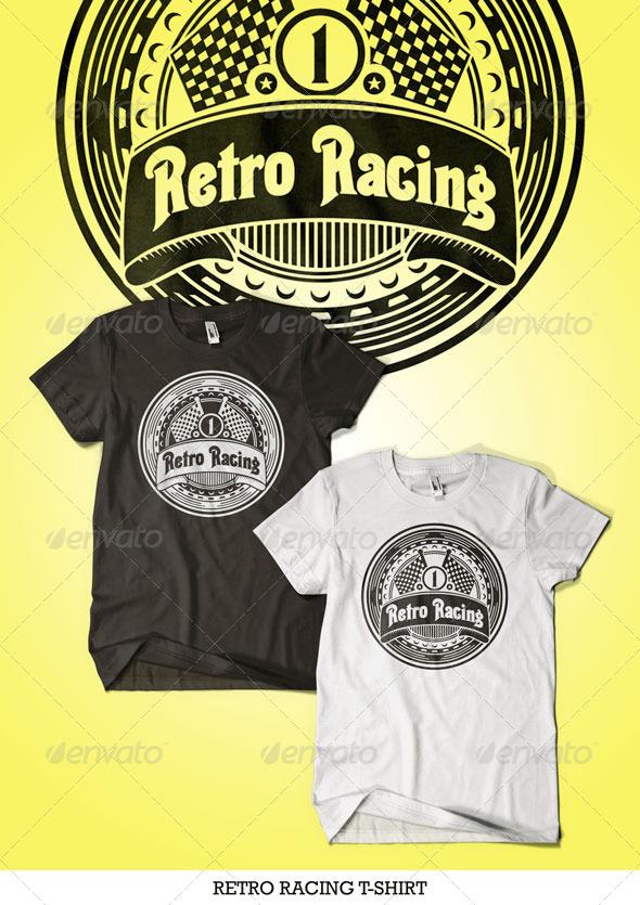 Retro Racing T-Shirt - T-Shirts