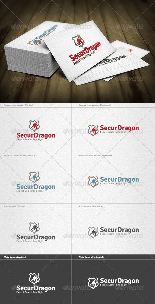Security Dragon Logo - Crests Logo Templates