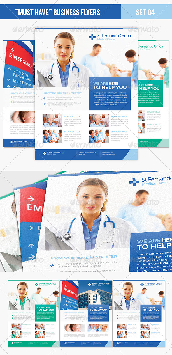 """""""Must Have"""" Business Flyers - Set 04 Health Care - Corporate Flyers"""