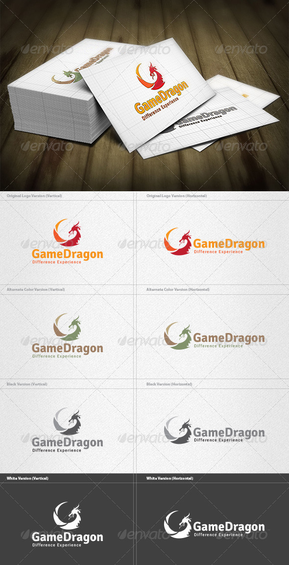 Dragon Game Logo - Animals Logo Templates