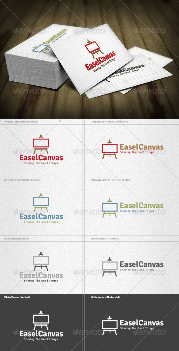 Easel Canvas Logo - Objects Logo Templates