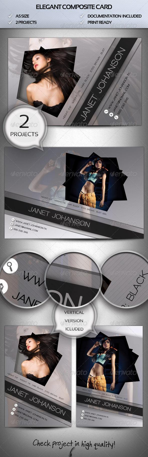 Elegant Comp Card - Miscellaneous Print Templates