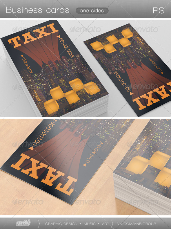 Taxi - Industry Specific Business Cards