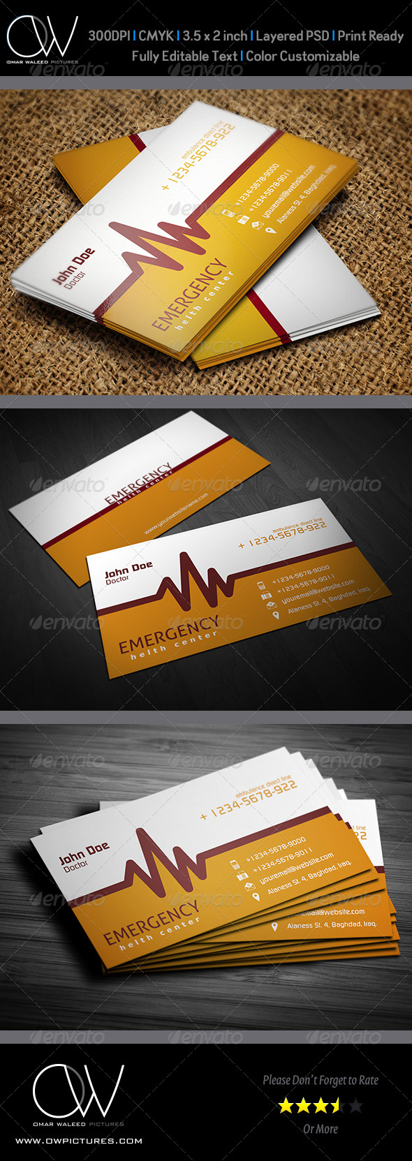 First Aid Business Card Vol.3 - Industry Specific Business Cards