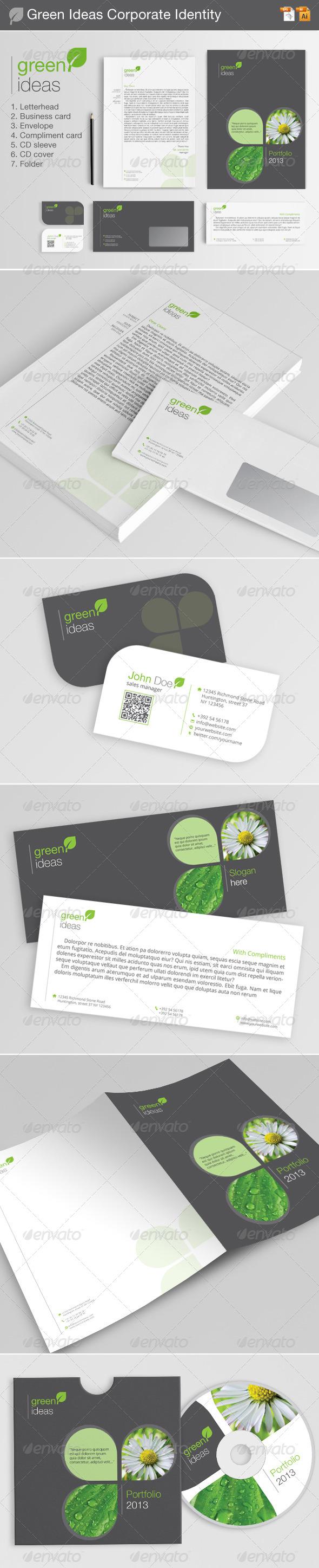 Green Ideas Corporate Identity - Stationery Print Templates