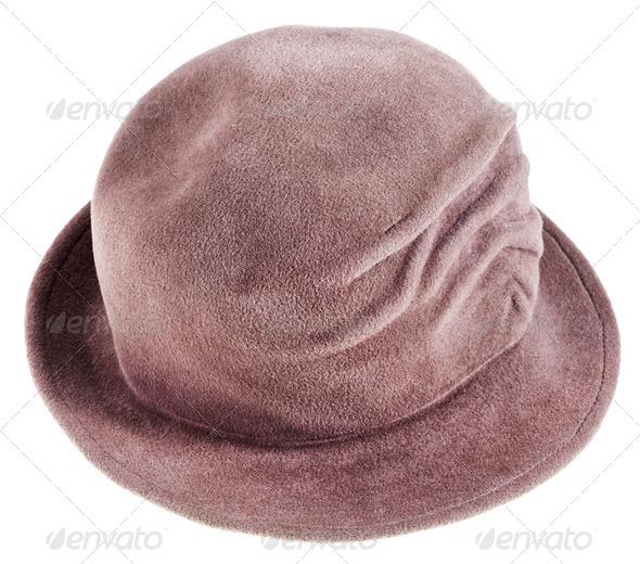 women's felt bowler hat - Stock Photo - Images