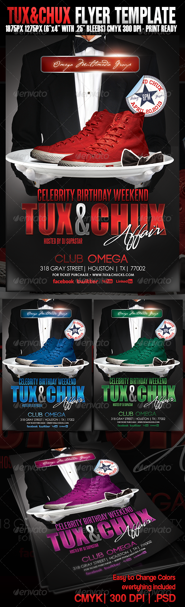 Tux & Chux Birthday Event - Events Flyers