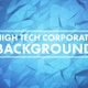 Blue High Tech Corporate Background With Moving Polygons - VideoHive Item for Sale